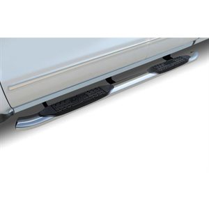 """4"""" OVAL CHEVY / GMC 1500 DOUBLE CAB (19-21) STAINLESS"""